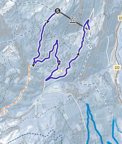 地图 / Schlittelweg Sulwald - Isenfluh