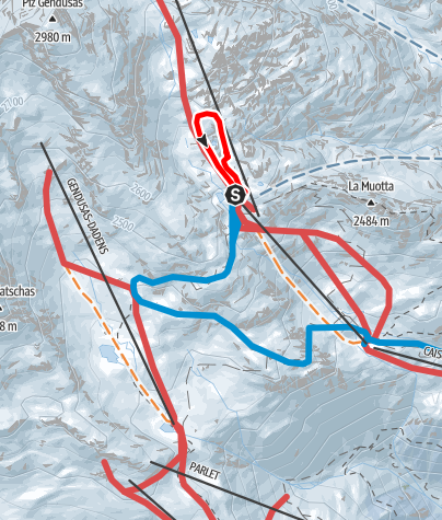 Map / Lai Alv Rundtour