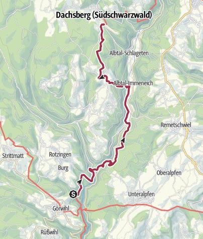 Karte / Albsteig Schwarzwald Etappe 2: Görwihl - Wittenschwand Genießertour