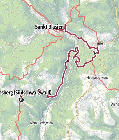 Karte / Albsteig Schwarzwald Etappe 3: Wittenschwand - St. Blasien Genießertour