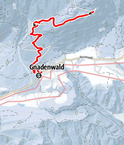 Map / Up to the Hinterhornalm with snowshoes