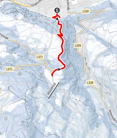 Karte / Von Wattens zum Gasthof Vögelsberg
