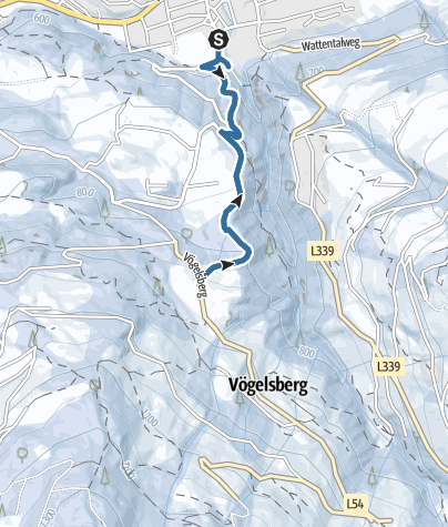 Map / Snowshoeing from Wattens to Gasthof Vögelsberg