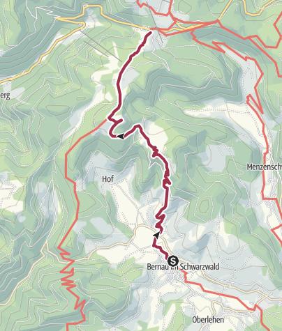 Karte / Albsteig Schwarzwald Etappe 5 West Tour: Bernau - Feldberg Passhöhe Genießer