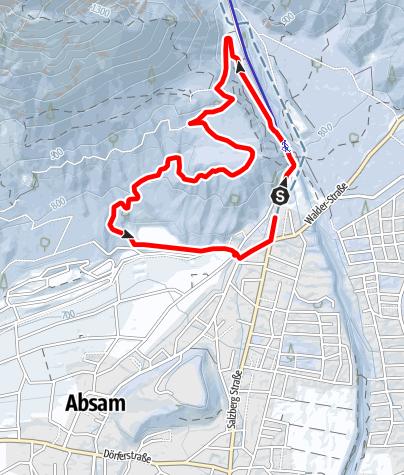 Map / Winterliche Runde am Runstboden