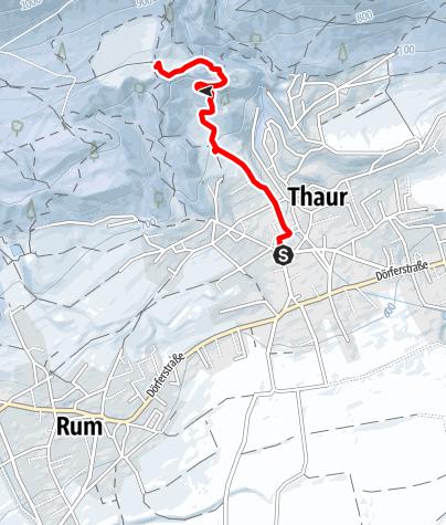 Karte / Wintertour zur Thaurer Schlossruine