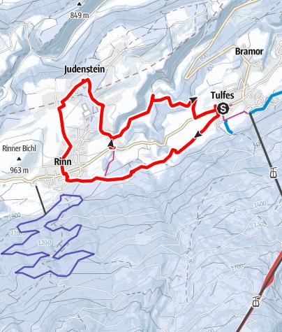 Map / Winterwanderung Tulfer Lavieren