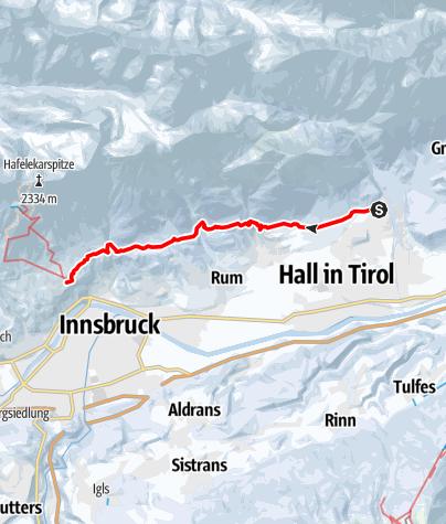 Karte / Abwechslungsreiche Wanderung entlang des Adolf Pichler Weges