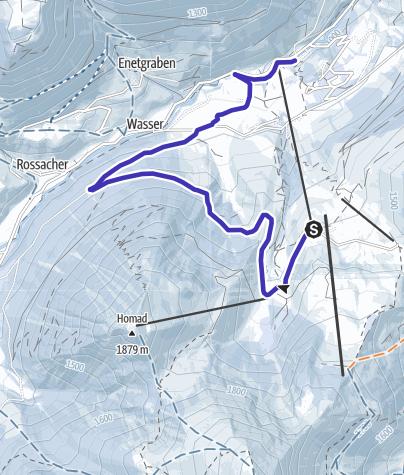 地图 / Schlittelweg Wiriehorn (Diemtigtal)