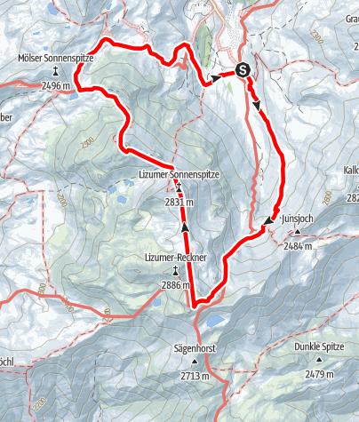 Karte / Lizumer Reib`n Rundtour