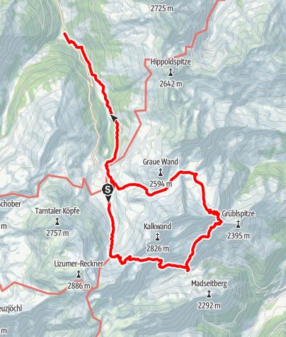 Map / Kalkwand Umrundung