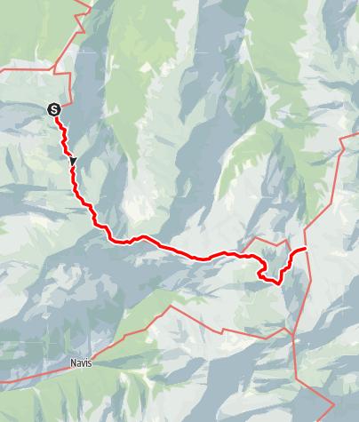 Karte / München - Venedig: Von der Glungezerhütte zur Lizumer Hütte