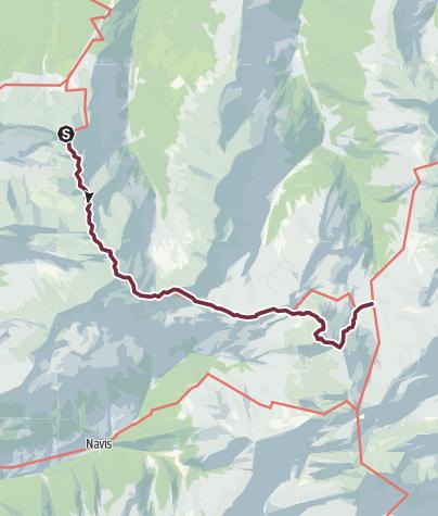 Map / München - Venedig: Von der Glungezerhütte zur Lizumer Hütte