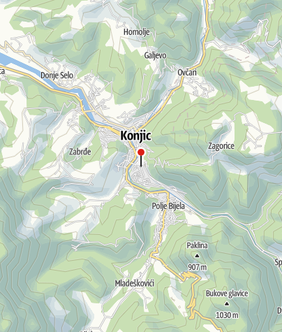 Map / Mountain Rescue Service - Konjic