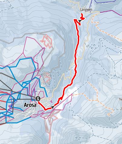 Map / Arosa - Litzirüti - Langwies