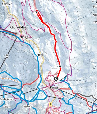 Map / 257 Parpan - Capfeders - Parpan