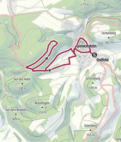 Karte / Bierbrau-Wunderweg Grevenstein
