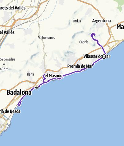 Carte / Barcelona SwimRun
