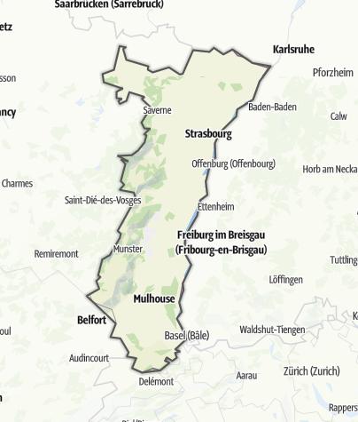 Karte / Elsass