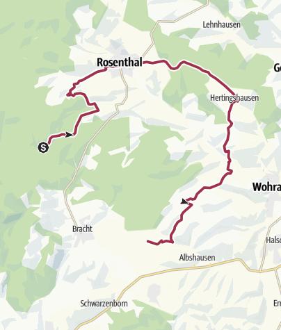 Karte / Hertingshausen-Schleife, Hugenotten- und Waldenserpfad