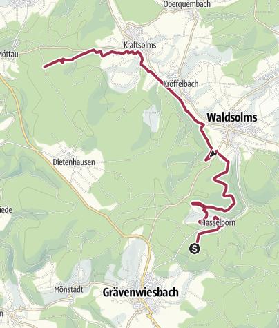 Karte / Waldsolms-Hasselborn-Schleife, Hugenotten- und Waldenserpfad