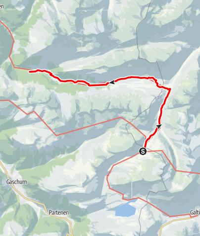 Karte / Eine idyllische Wanderung durch das Europaschutzgebiet Verwall: Von der Neuen Heilbronner Hütte zur Unteren Gaflunaalpe