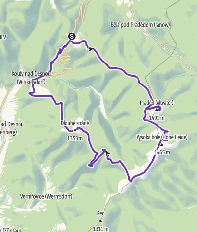 Mapa / Rock Point - Horská výzva 2018: Jeseníky - HALF