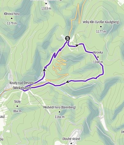 Mapa / Rock Point - Horská výzva 2018: Jeseníky - SHORT