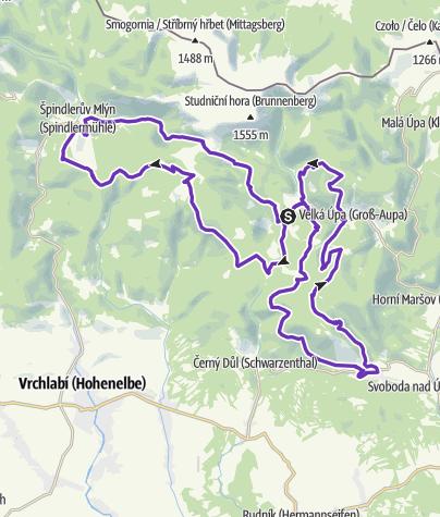 Mapa / Rock Point - Horská výzva 2017: Krkonoše - LONG