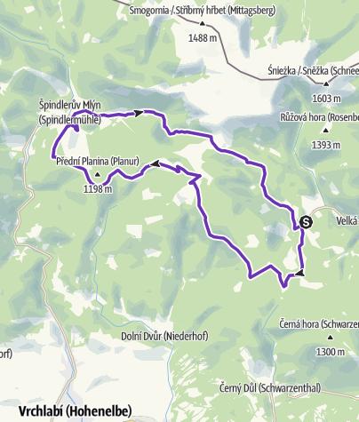 Mapa / Rock Point - Horská výzva 2017: Krkonoše - HALF
