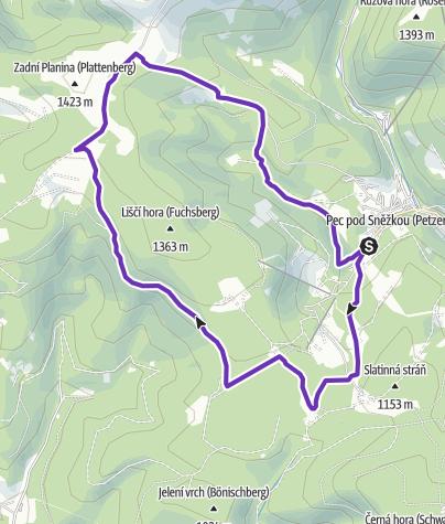 Map / Rock Point - Horská výzva 2018: Krkonoše - SHORT