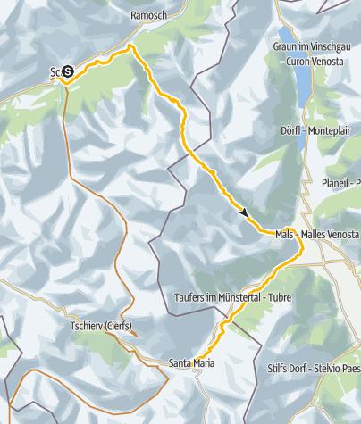 Map / 32.02 Scuol–Sta. Maria, Trans Altarezia Bike