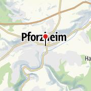 Mappa / Pforzheim: Goldstadt an den der Täler Würm, Nagold und Enz