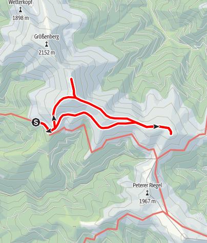 Karte / Weißensteinhütte - Ameringkogel - Speikkogel