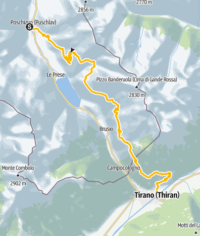 Map / 32.05 Poschiavo - Tirano, Trans Altarezia Bike