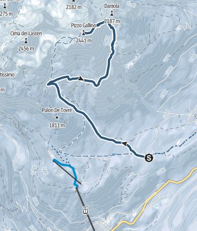 Map / Piz Galin