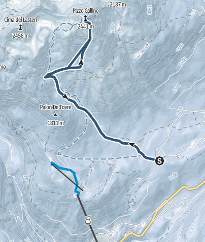 Mapa / Piz Galin