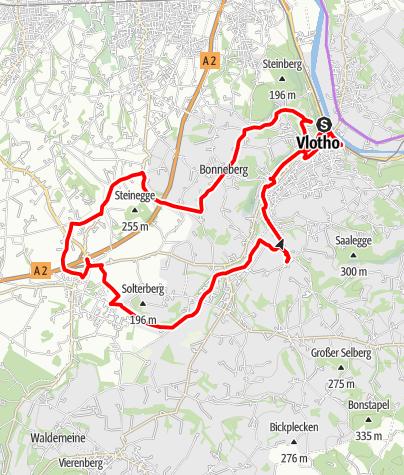Karte / Denkmal-Route Vlotho