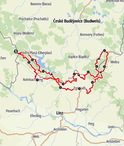 Karte / Nordwaldkammwege gesamt