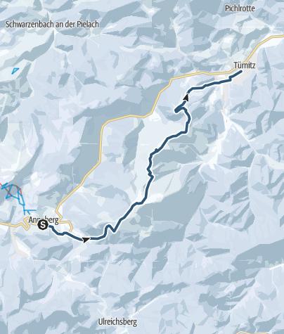 Karte / NÖ Voralpen-Haute-Route