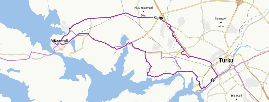 Kartta / Naantalin kierros