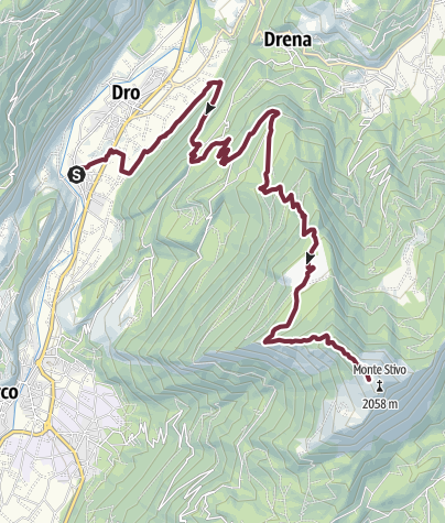 Map / GardaTrek - Top Loop 4: to the balcony over Lake Garda