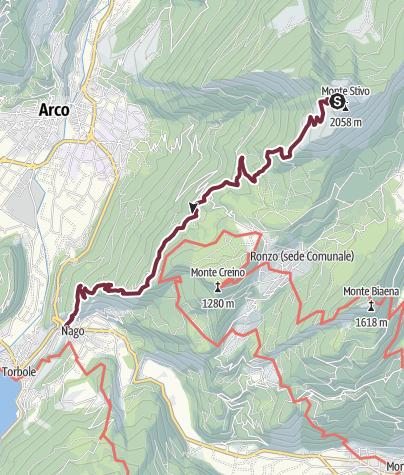 Map / GardaTrek - Top Loop 5: Across the former Austrian Front