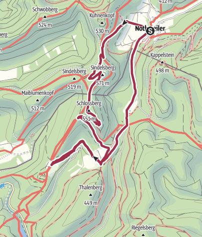 Map / Wegelnburg, Hohenburg, Löwenstein, Fleckenstein - Einkehr auf dem Gimbelhof im Elsaß