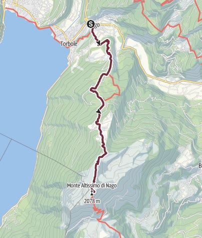 Map / GardaTrek - Top Loop 6: In the Garden of Europe