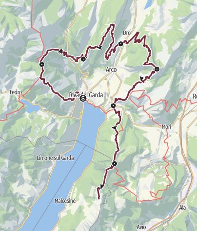 Cartina / GardaTrek - Top Loop: La corona del Garda Trentino