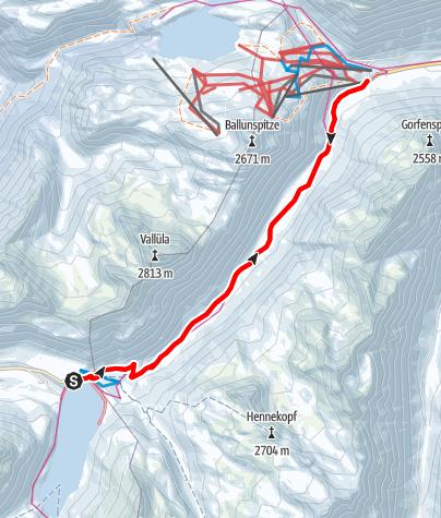 Karte / Wanderwanderweg nach Galtür