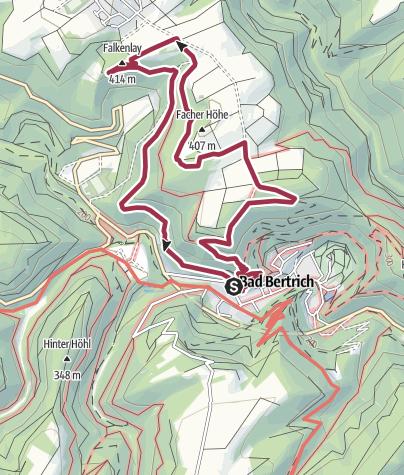 Karte / GEO-ROUTE Bad Bertrich