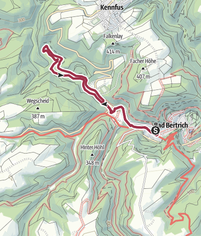 Karte / Ritter-Räuber-Römer (Bad Bertrich)