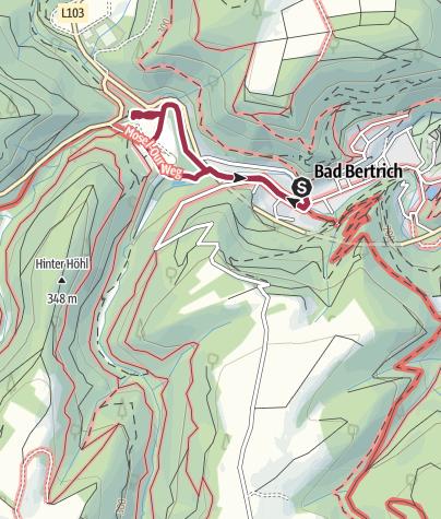 Karte / Spazierweg Elfengrotte (Bad Bertrich)